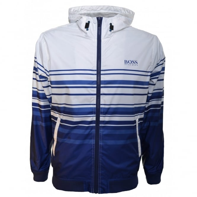 6ae5c140c8 Hugo Boss Kids Blue And White Windbreaker Jacket