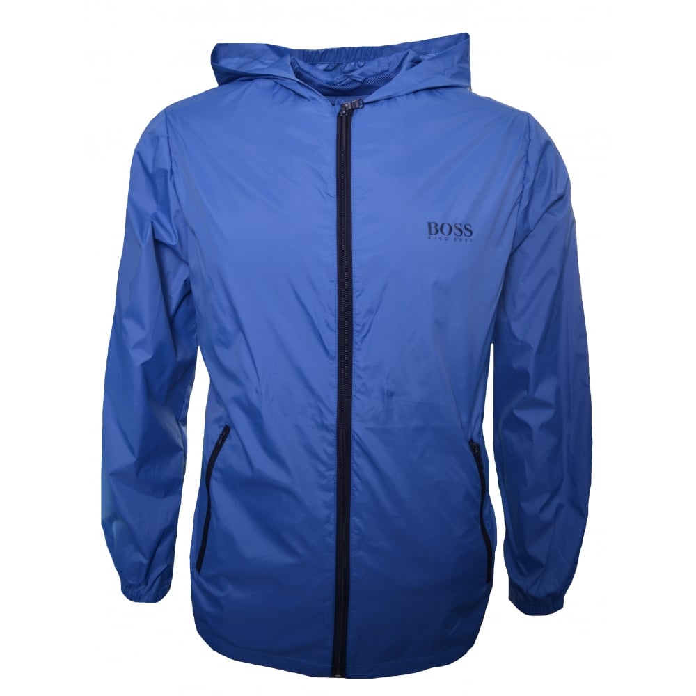 hugo boss kids blue windbreaker jacket