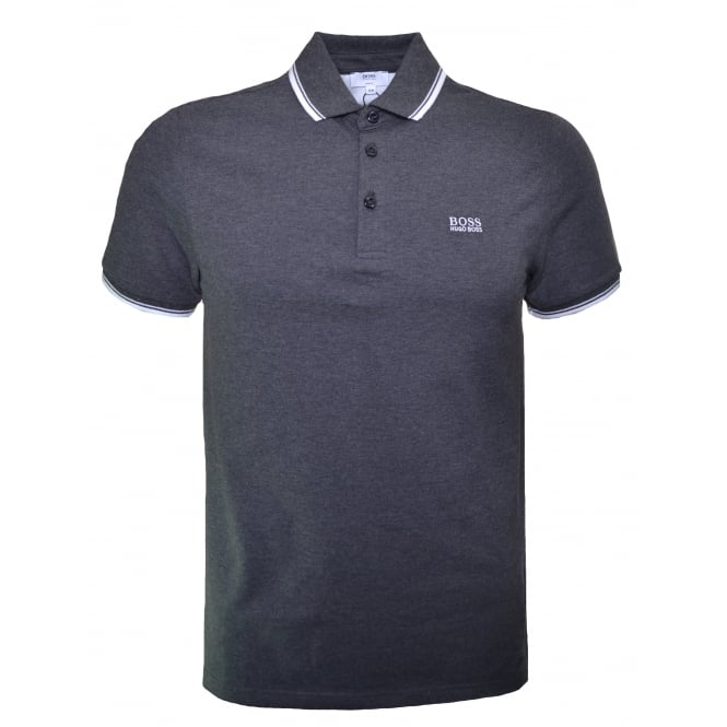 Hugo Boss Kids Dark Grey Short Sleeve Polo Shirt