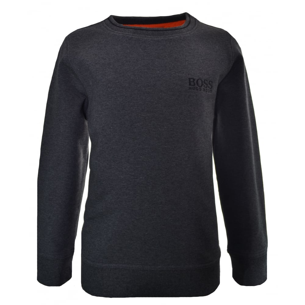 2615a0f0683 hugo boss kids grey sweatshirt jumper