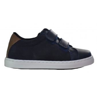 Hugo Boss Kids Dark Navy Velcro Trainers