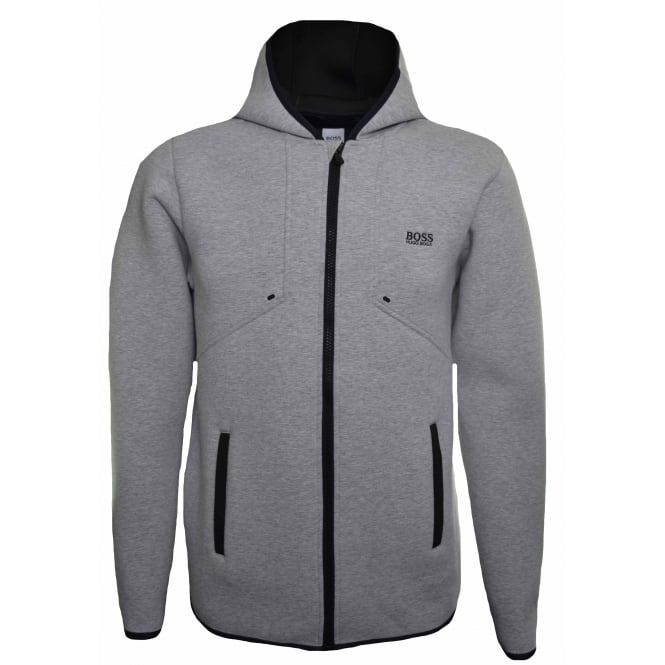 Hugo Boss Kids Grey Neoprene Hooded Jacket