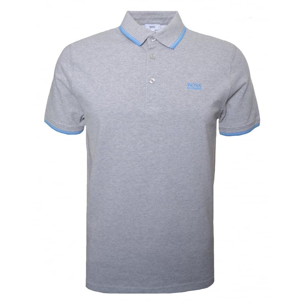 f0980e951 Hugo Boss Kids Grey Short Sleeve Polo Shirt