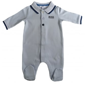 Hugo Boss Baby Boys Pale Blue All In One
