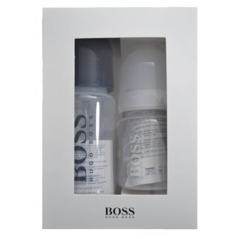 Hugo Boss Baby Boys White And Navy Bottles Gift Set