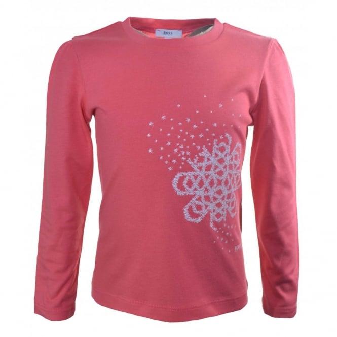 4e7088cc1 hugo boss girls long sleeve pink t-shirt