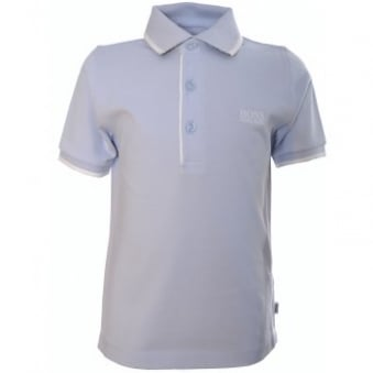 Hugo Boss Infants And Childrens Blue Tipped Polo Shirt