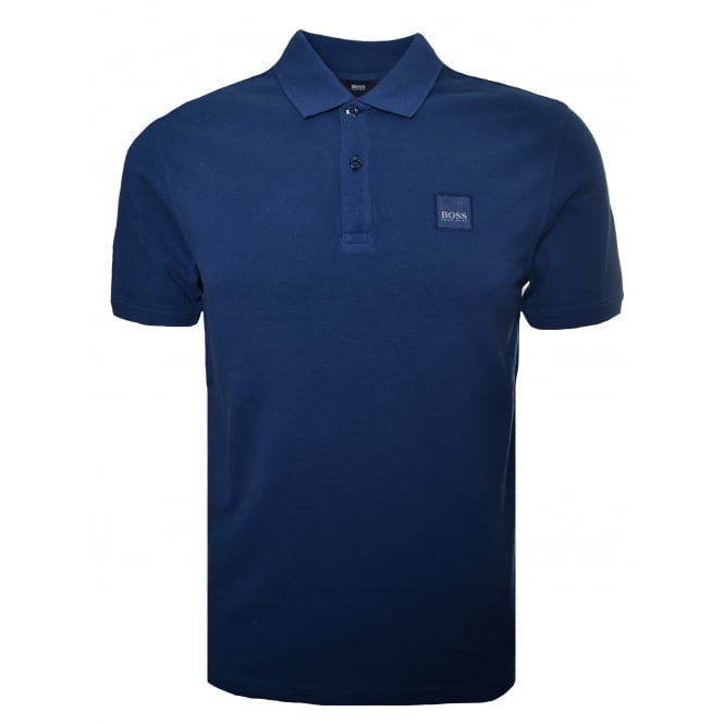 Hugo Boss Kids Hugo Boss Infants And Childrens Slate Blue Polo Shirt