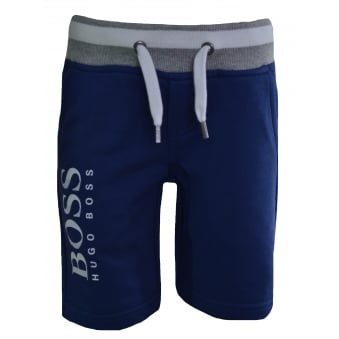 Hugo Boss Infants And Kids Blue Cotton Shorts