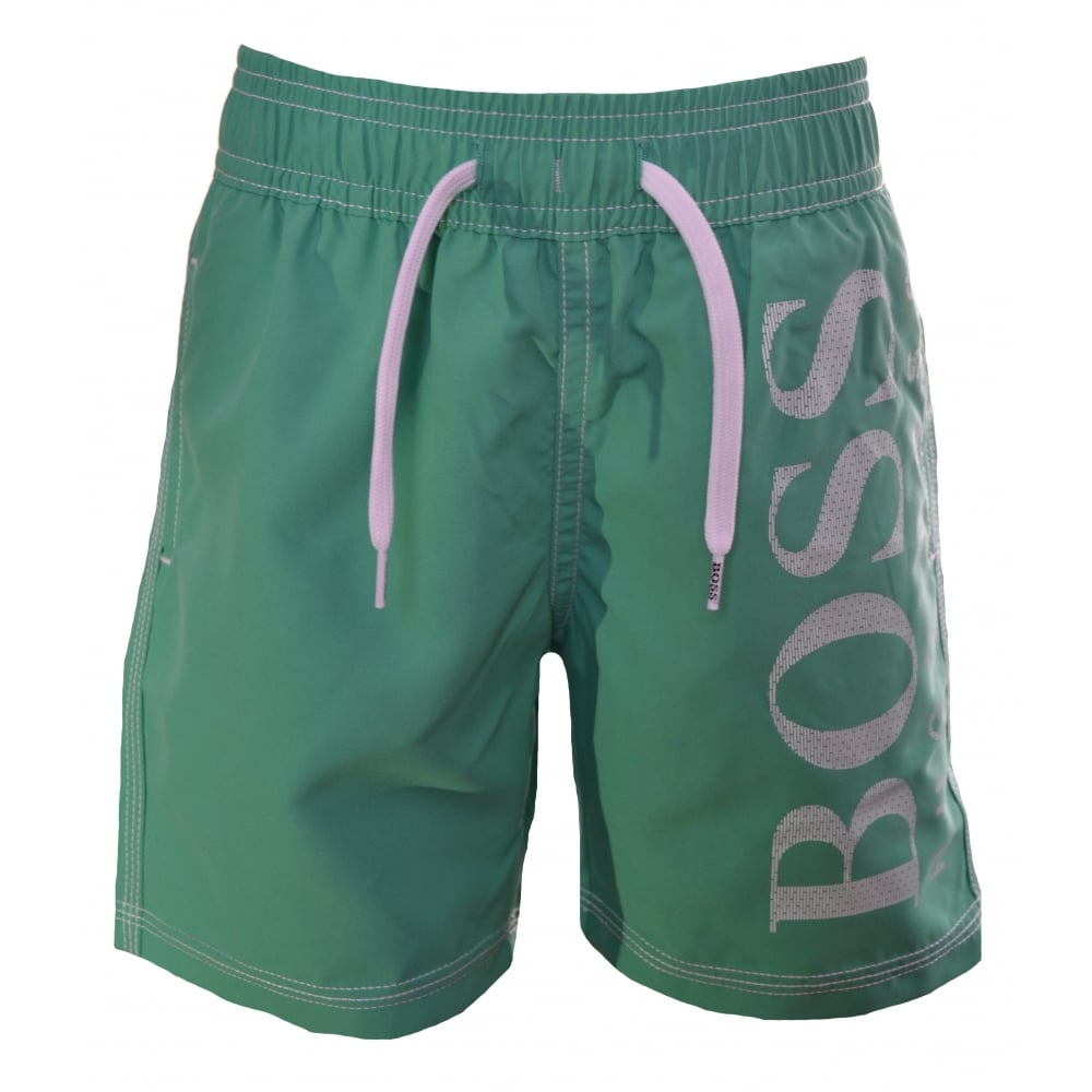 f11a3f824ecc Hugo Boss Infants And Kids Green Swim Shorts
