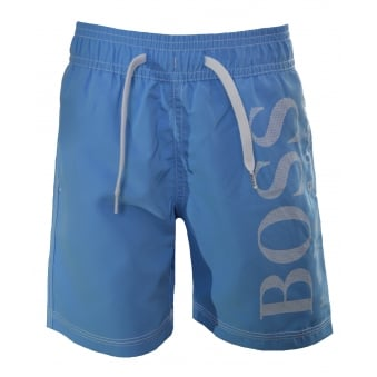 Hugo Boss Infants And Kids Pale Blue Swim Shorts