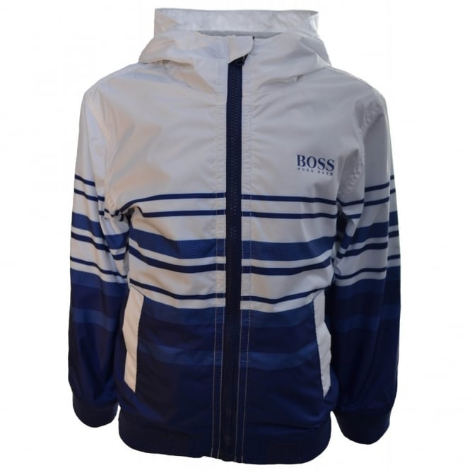 969375bab9 Hugo Boss Infants Blue And White Windbreaker Jacket