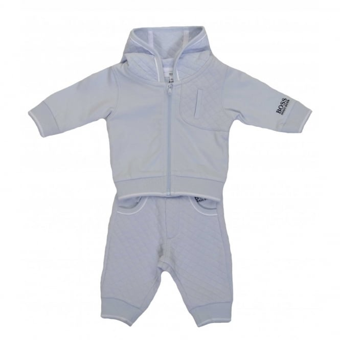 7fd7f1ca hugo boss infants blue quilted tracksuit