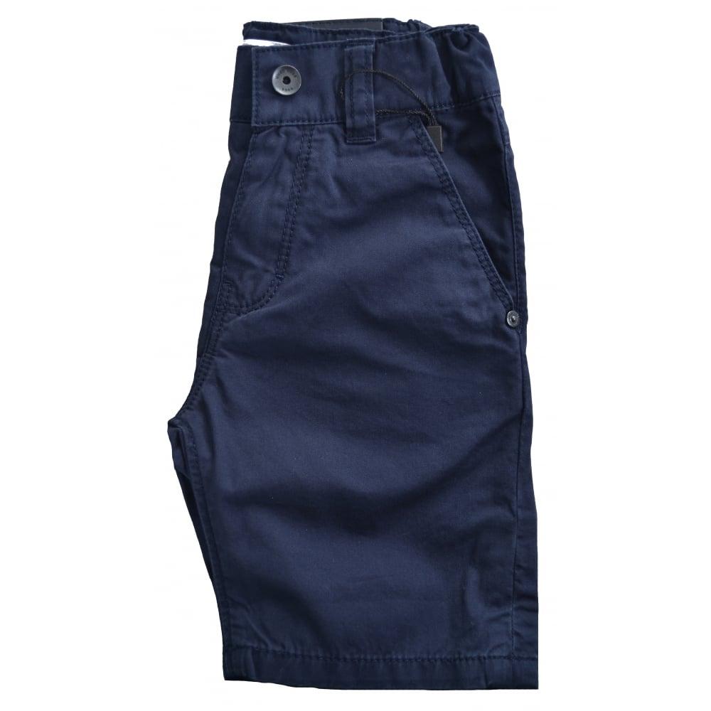 hugo boss infants dark blue chino shorts