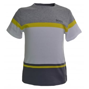 Hugo Boss Infants Grey Colour Block T-Shirt
