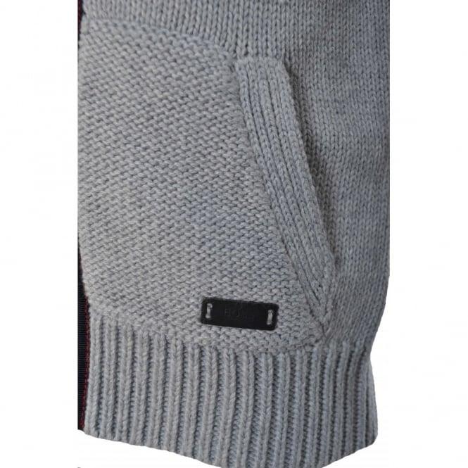 e49b24d85 Hugo Boss Infants Grey Knitted Zip Up Cardigan