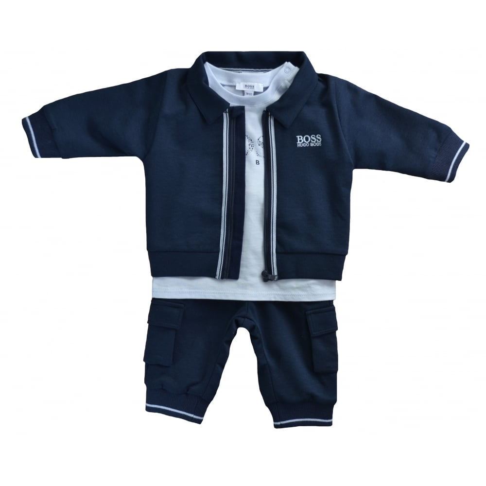 hugo boss infants navy blue tracksuit 176a14bd1