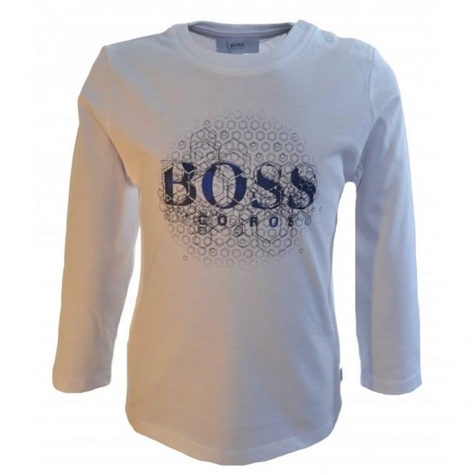 4e4683008 hugo boss infants white long sleeve t-shirt