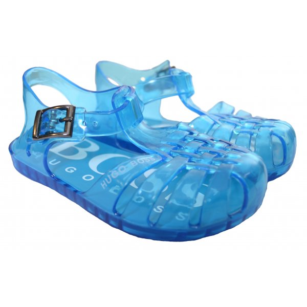 1c3d8130c39 Hugo Boss Kids Blue Jelly Sandals