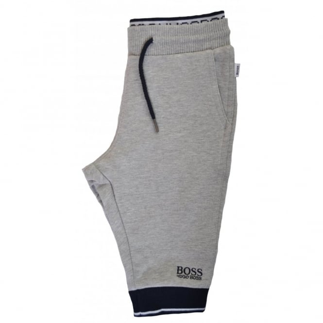 0107a770 Hugo Boss Kids Grey And Navy Blue Jogging Bottoms