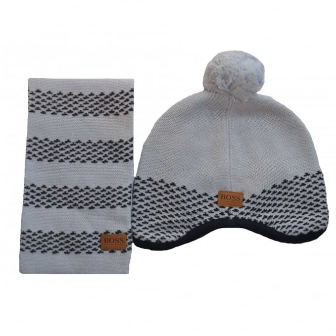 ac44078509b hugo boss kids pale blue hat and scarf set