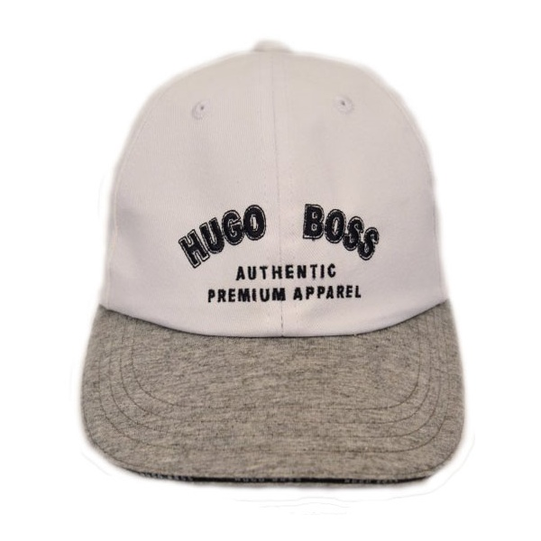 Kids Hugo Boss White and Grey Baseball Cap with Black Logo 28dab3fa798
