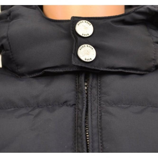 43638f55a infants hugo boss dark navy padded jacket with hood