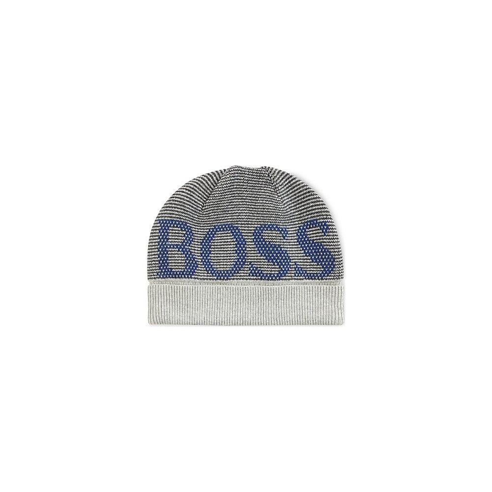 10bd83d277e Hugo Boss Kids Light Grey Beanie Hat