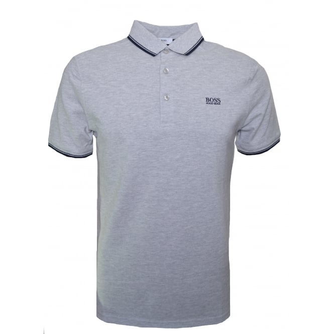 Hugo Boss Kids Light Grey Short Sleeve Polo Shirt