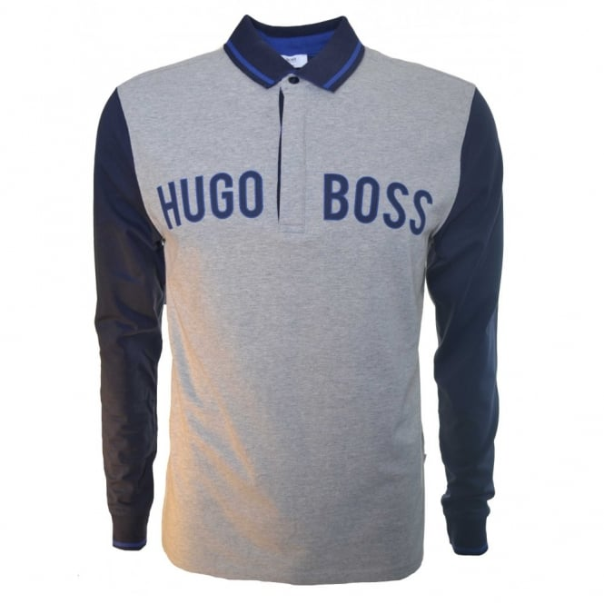 db731fd8e Hugo Boss Kids Long Sleeve Grey Polo Shirt
