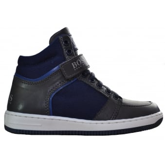 Hugo Boss kids Navy Blue High Tops