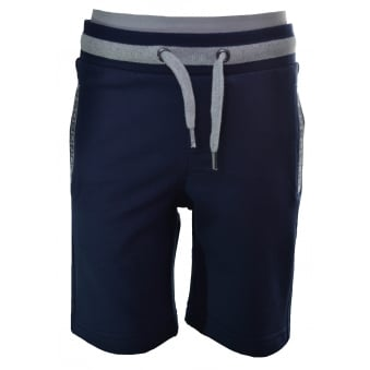 Hugo Boss Kids Navy Blue Jersey Shorts