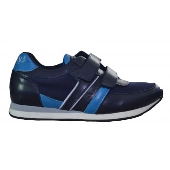 Hugo Boss Kids Navy Blue Velcro Trainers