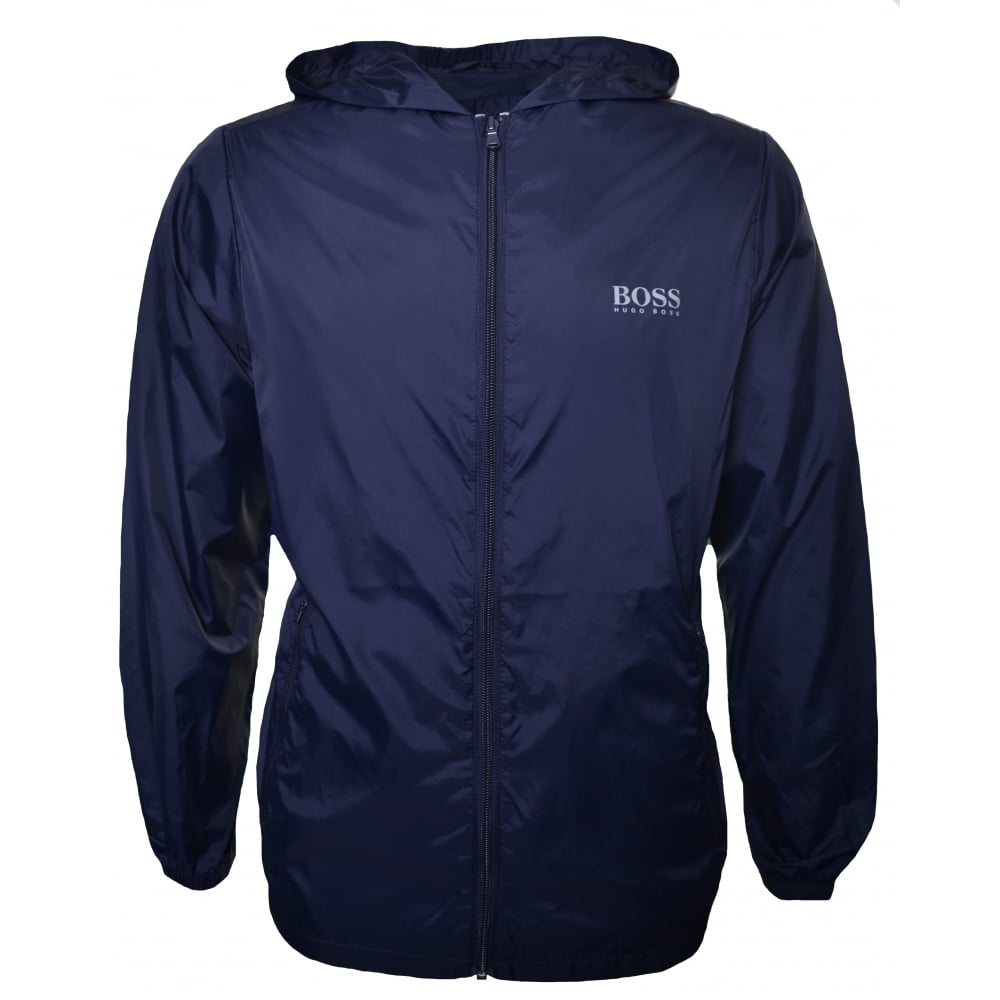 hugo boss kids navy blue windbreaker jacket