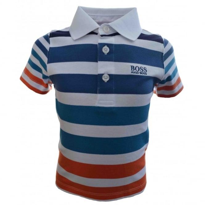 3e9e15d7 Hugo Boss Kids Orange Striped Polo Shirt