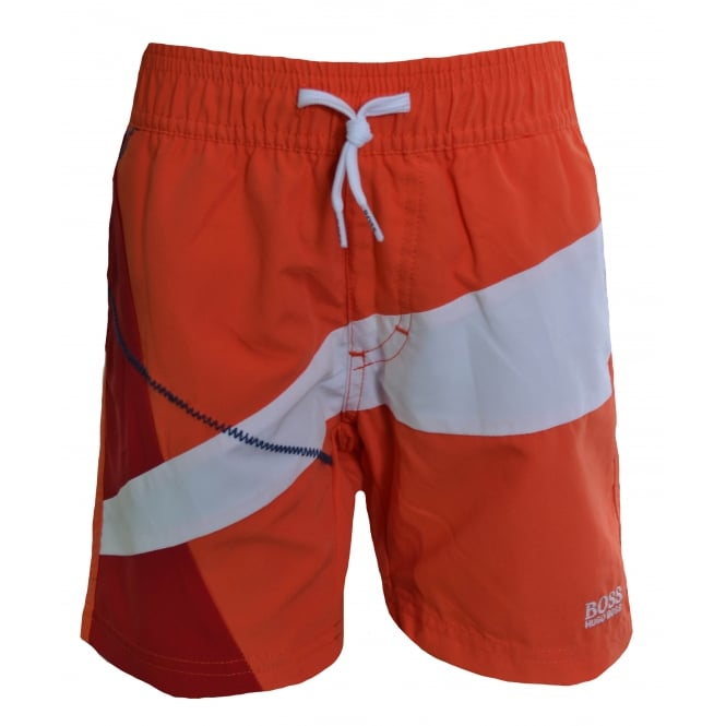 Hugo Boss Kids Orange Swimming Shorts