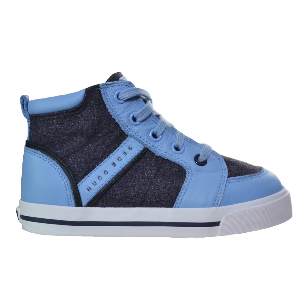 hugo boss kids pale blue high tops 248cb54f48d3