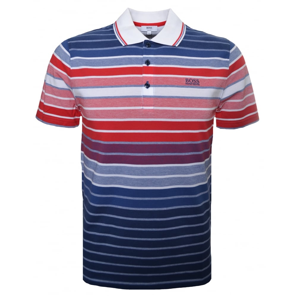 Hugo boss kids polo shirt for Red blue striped shirt