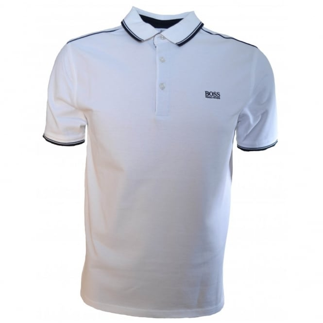 Hugo Boss Kids White Short Sleeve Polo Shirt