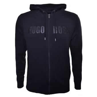 Hugo Boss Men's Black Hooded Zip Through Sweatshirt