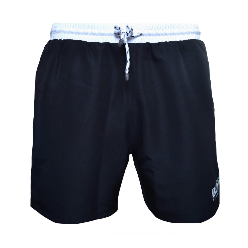 4b721a8175f6 Hugo Boss Men  039 s Black Starfish Swim Shorts