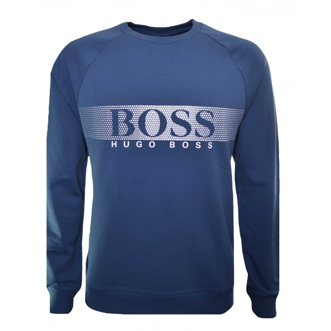 Hugo Boss Leisure Wear Hugo Boss Men's Blue Sweatshirt