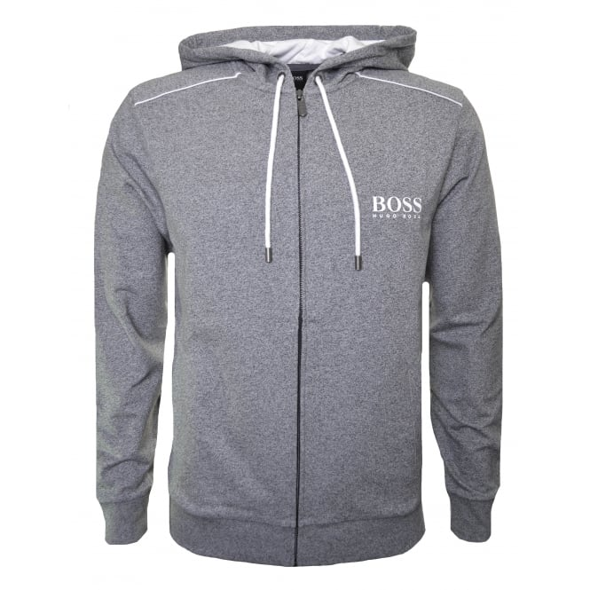 Hugo Boss Leisure Wear Hugo Boss Men's Charcoal Hooded Zip Through Sweatshirt