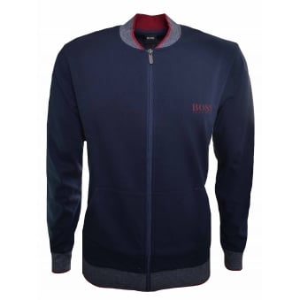 Hugo Boss Men's Dark Blue College Jacket