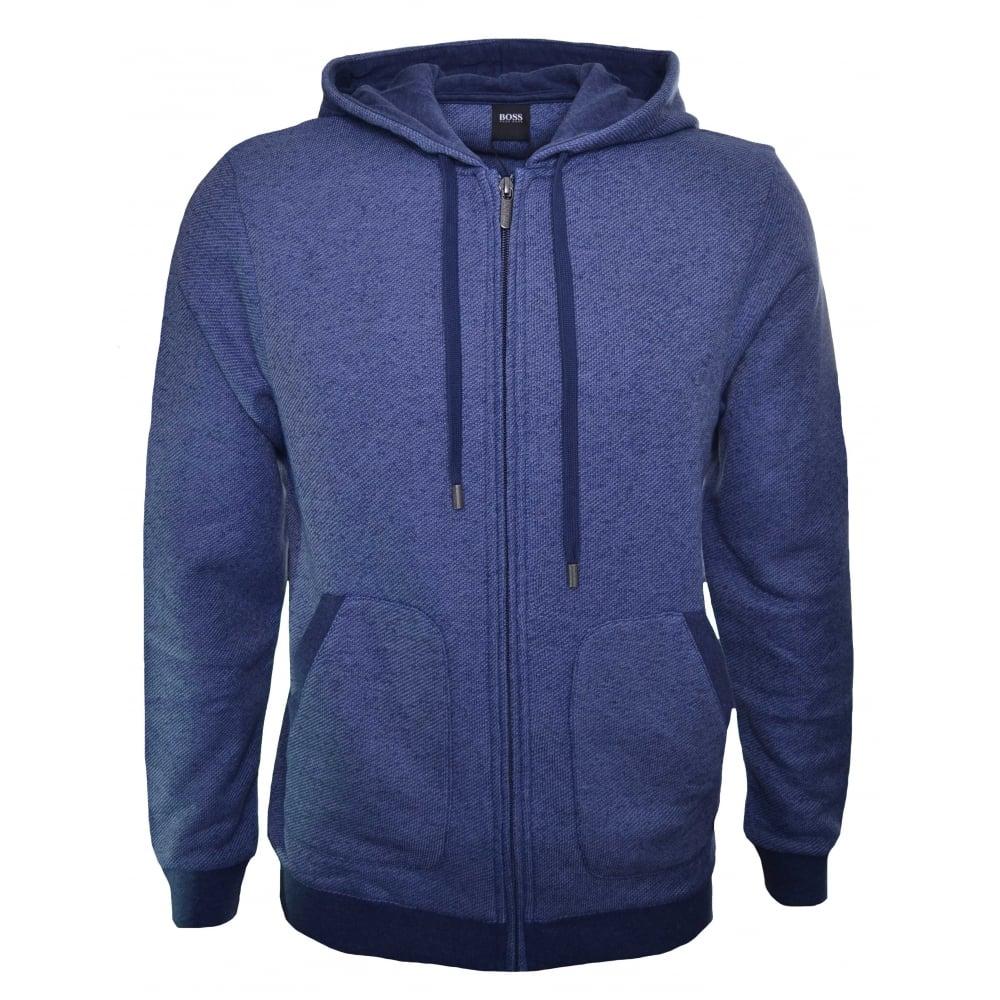 96cc1828d43 Hugo Boss Men  039 s Dark Blue Hooded Zip Through Sweatshirt
