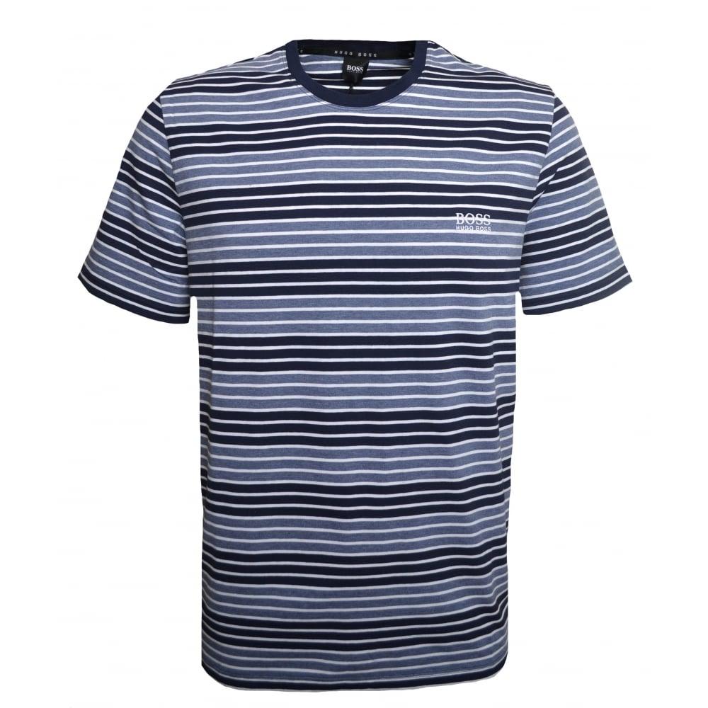 dada06192 Hugo Boss Men's Dark Blue Striped T-Shirt