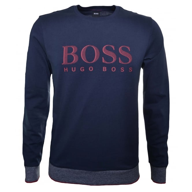 Hugo Boss Leisure Wear Hugo Boss Men's Dark Blue Sweatshirt