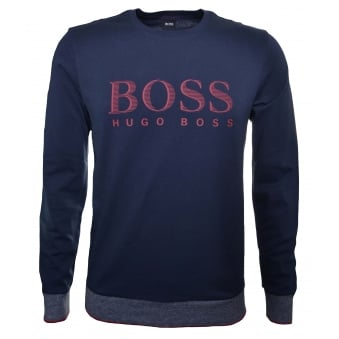 Hugo Boss Men's Dark Blue Sweatshirt