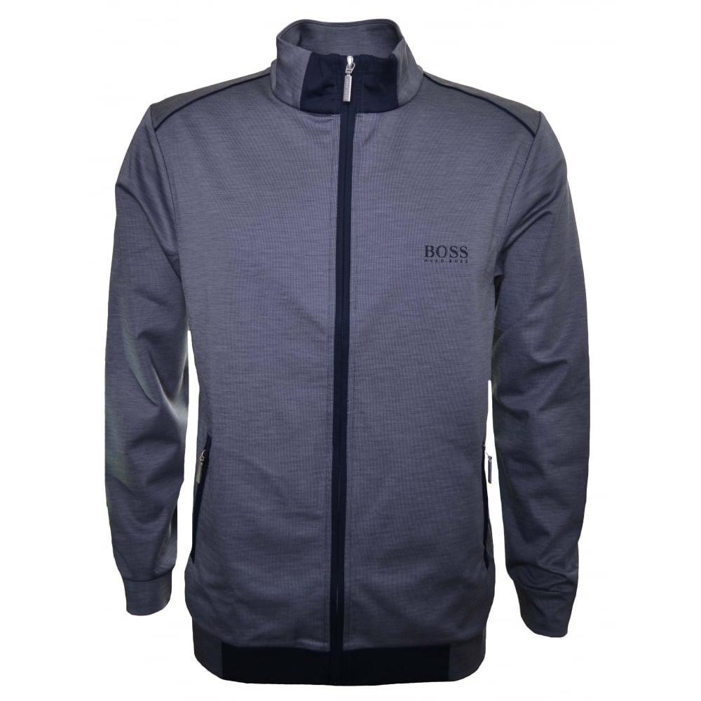 Hugo Boss Men  039 s Dark Blue Zip Through Sweatshirt ca13e72e244a