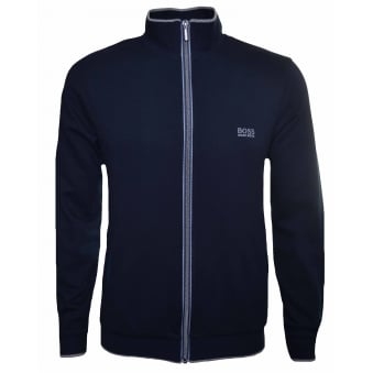 Hugo Boss Men's Dark Blue Zip Through Sweatshirt